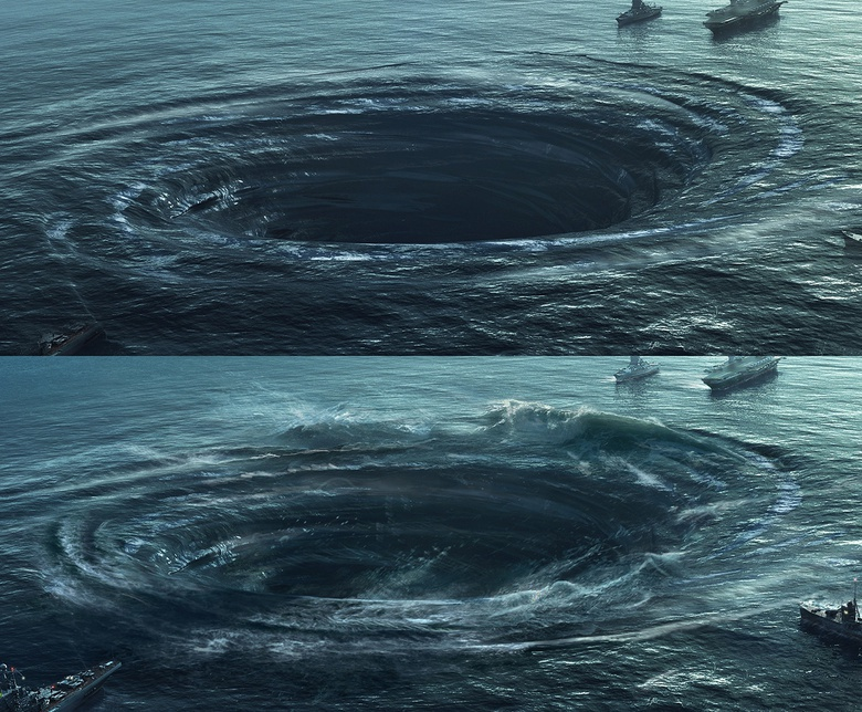 Here are the renders and final result of the whirlpool