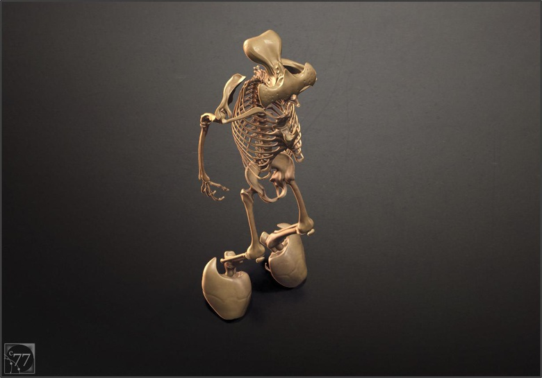 The first render test for the bones. ©2014 Cameron Farn