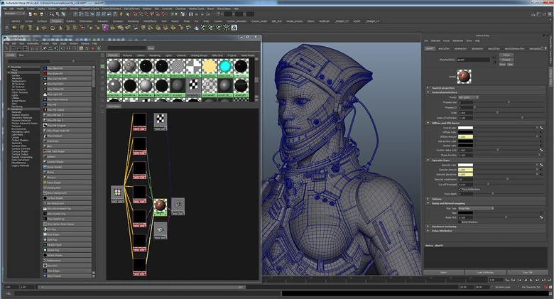 Adding the map to the V-RaySSS2 for the skin shaders