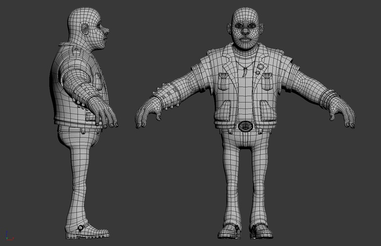 Biker modeling finished