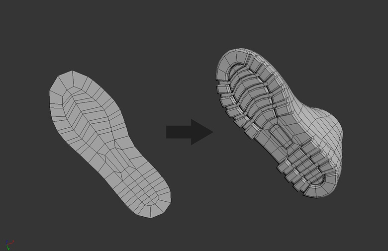 Sole modeling process