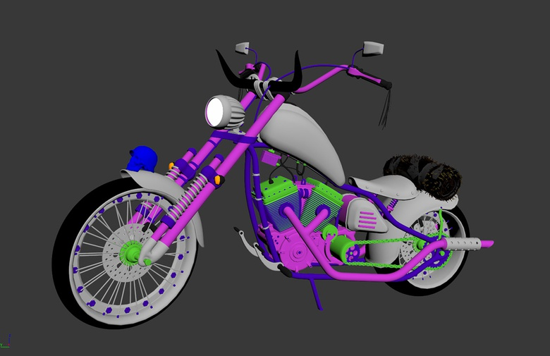 The motorbike model ready for painting