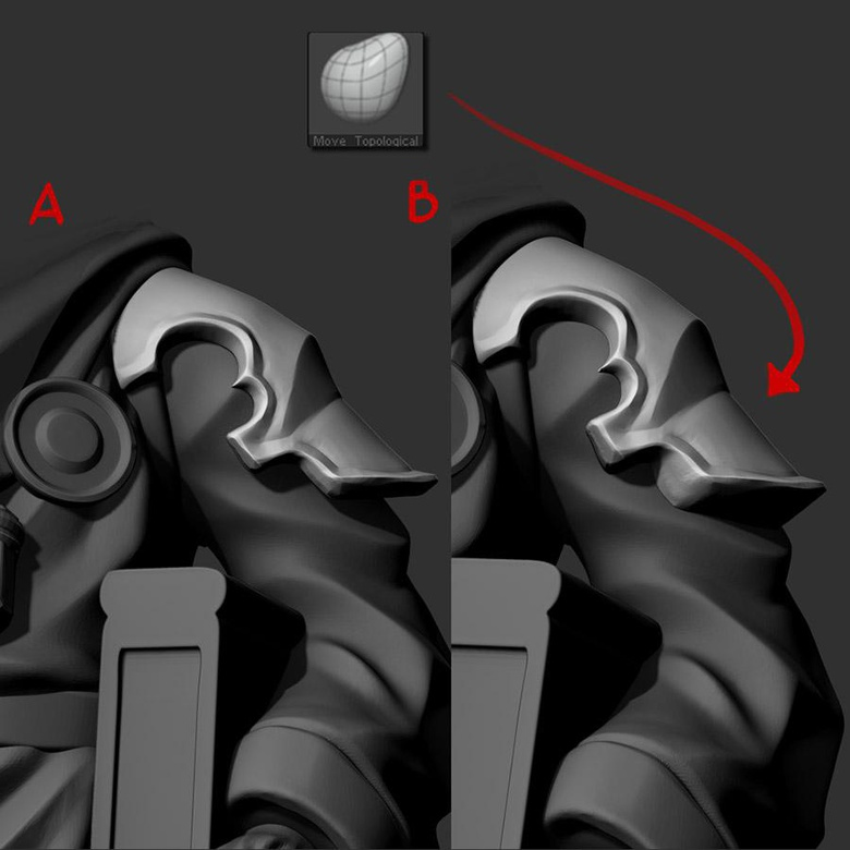 Overlapping objects may not look pretty at high resolution, but remember your model will eventually only be 2 inches tall