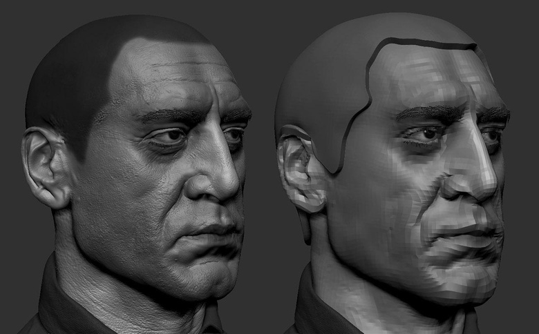 Extracting a base for the hair from the head SubTool