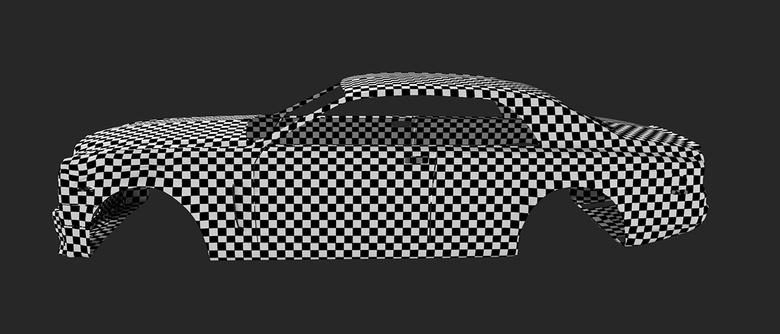 Check UV Mapping by applying checker pattern shader