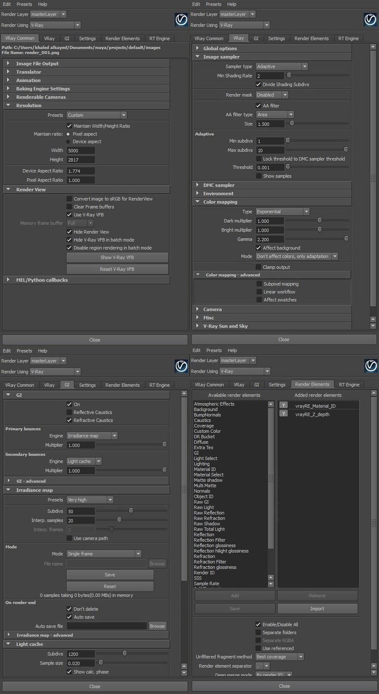 Render Settings for final render