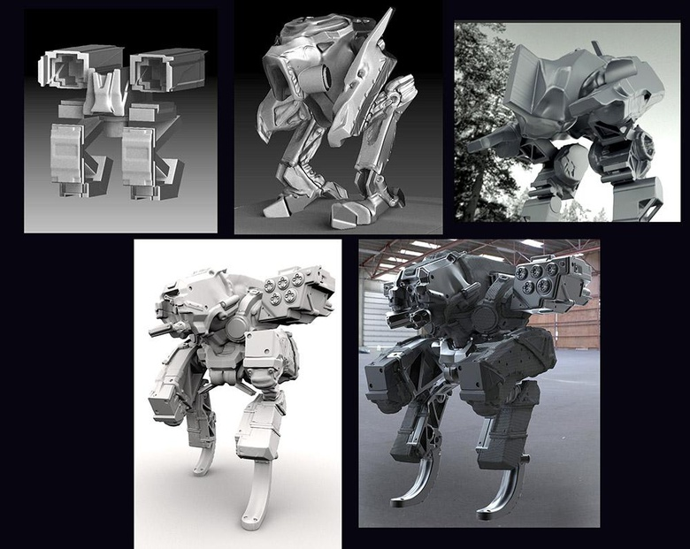 Use whatever means necessary to create concept art - photo-bash, sketch, overlay images. I used ZBrush to find forms