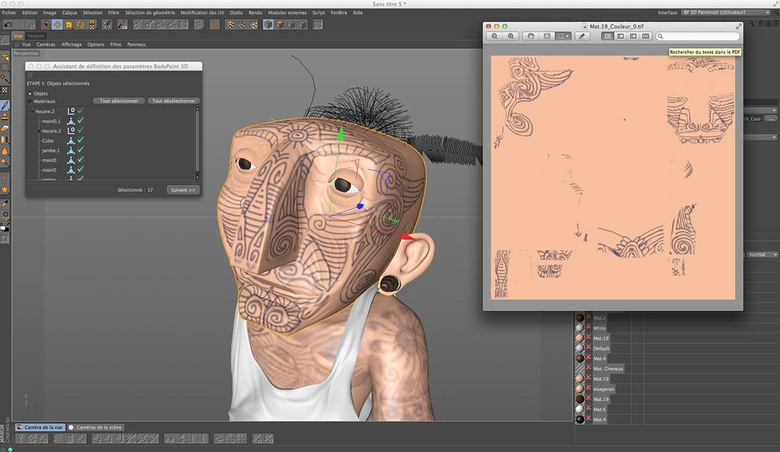 Adding some basic texture to the model