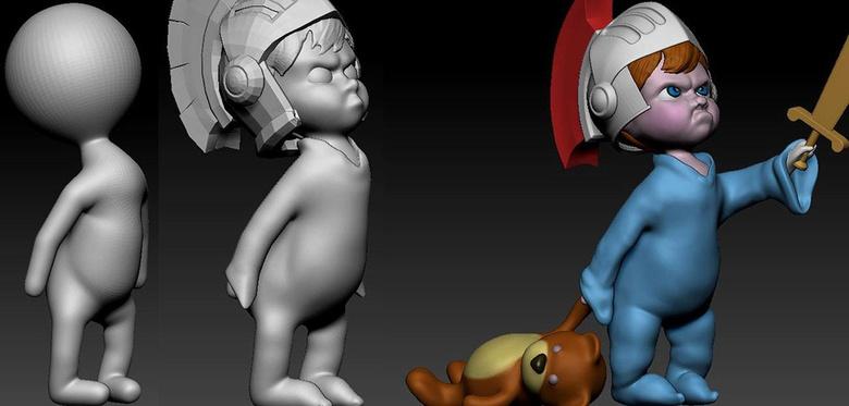 Sculpting the child