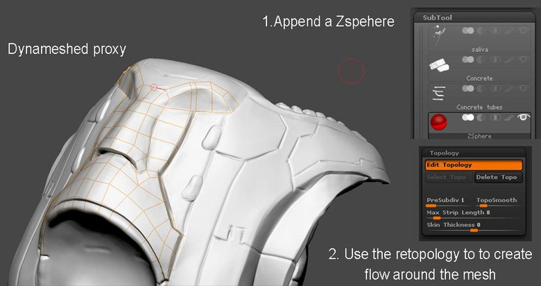 Using topology to create the hard-surfaces
