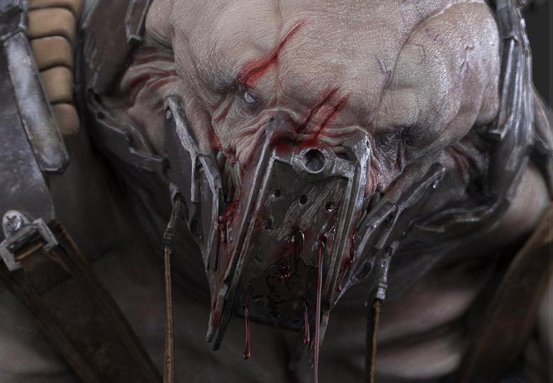 Close-up of the facial details