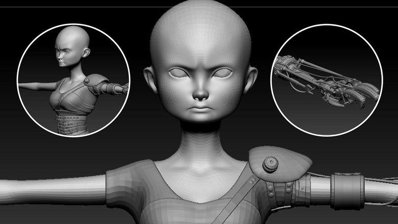 ZBrush sculpt of Furiosa