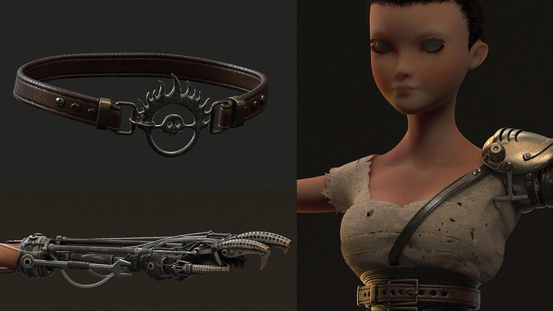 Textures, including clothing, metal and leather