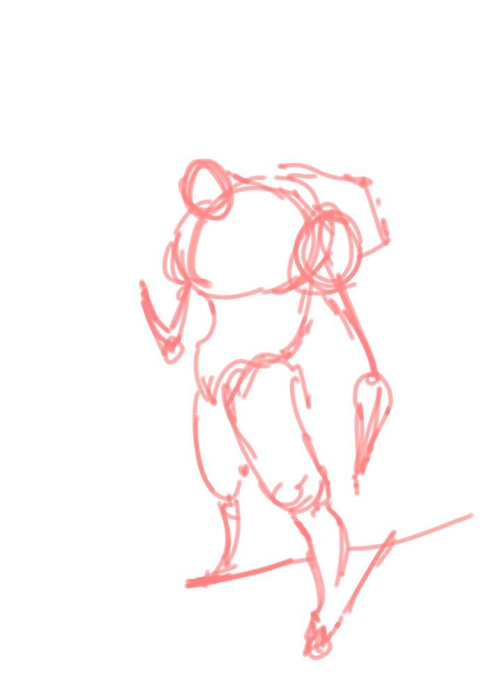 <h5>A simple mannequin or base structure is useful when designing a character</h5>