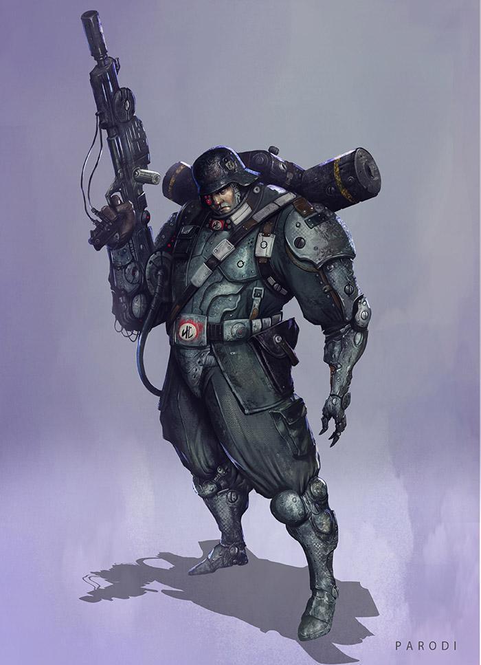 <h5>The final image of <em>Soldado XX</em></h5>