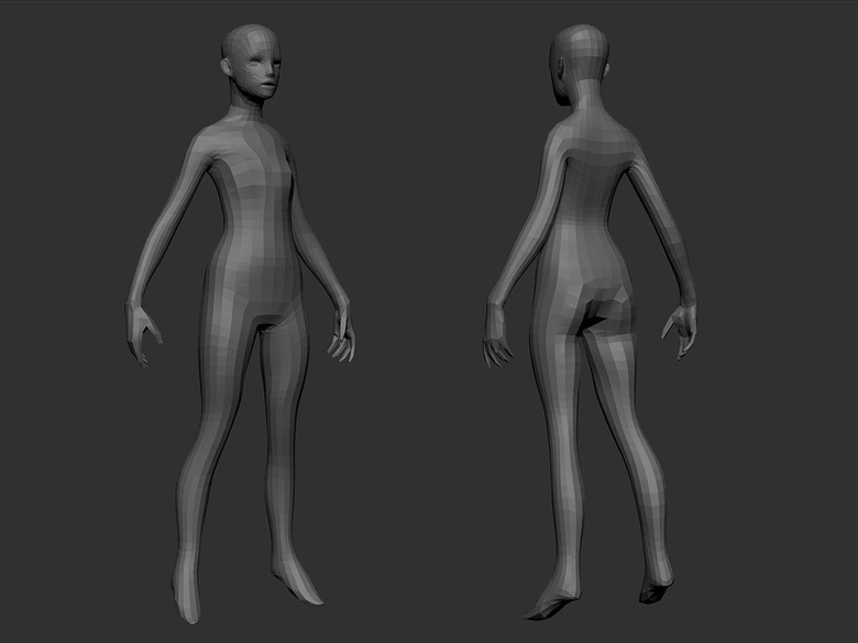 My own humanoid base mesh
