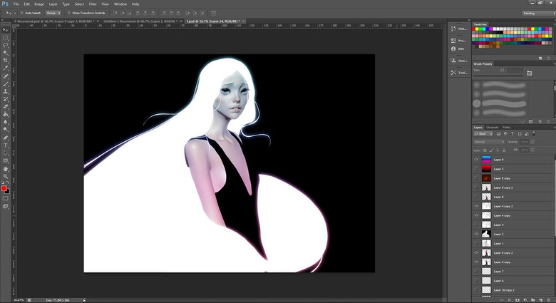 Experimenting with Photoshop layers to create a cool look