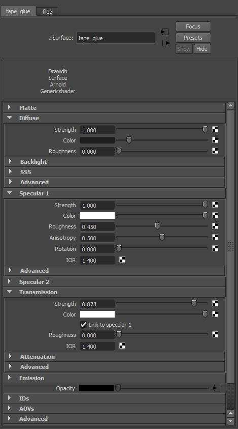 <h5>Tape glue shader attributes</h5>