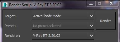 <h5>Just set the renderer to V-Ray RT and the engine to Active Shade and enjoy real time rendering!</h5>