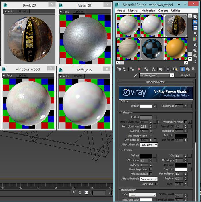<h5>Adding realistic materials to the objects</h5>