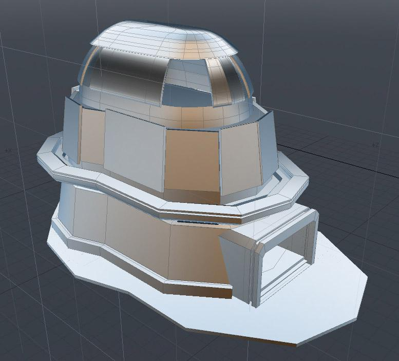 A screenshot from the 3D view port in Modo