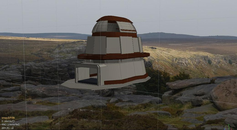3D view port with the backdrop image