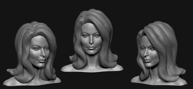 Separate and simple geometry for the lady vampire's hair