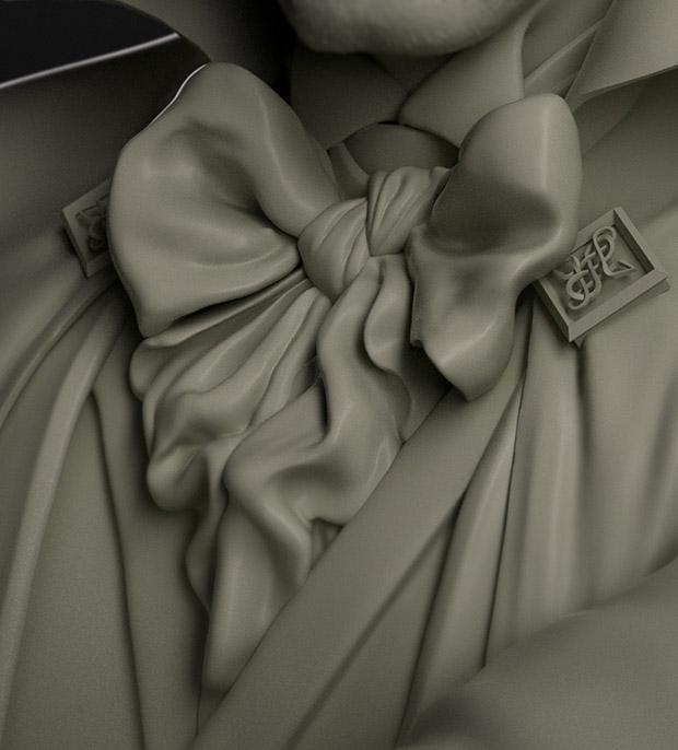 <h5>The finished cravat</h5>