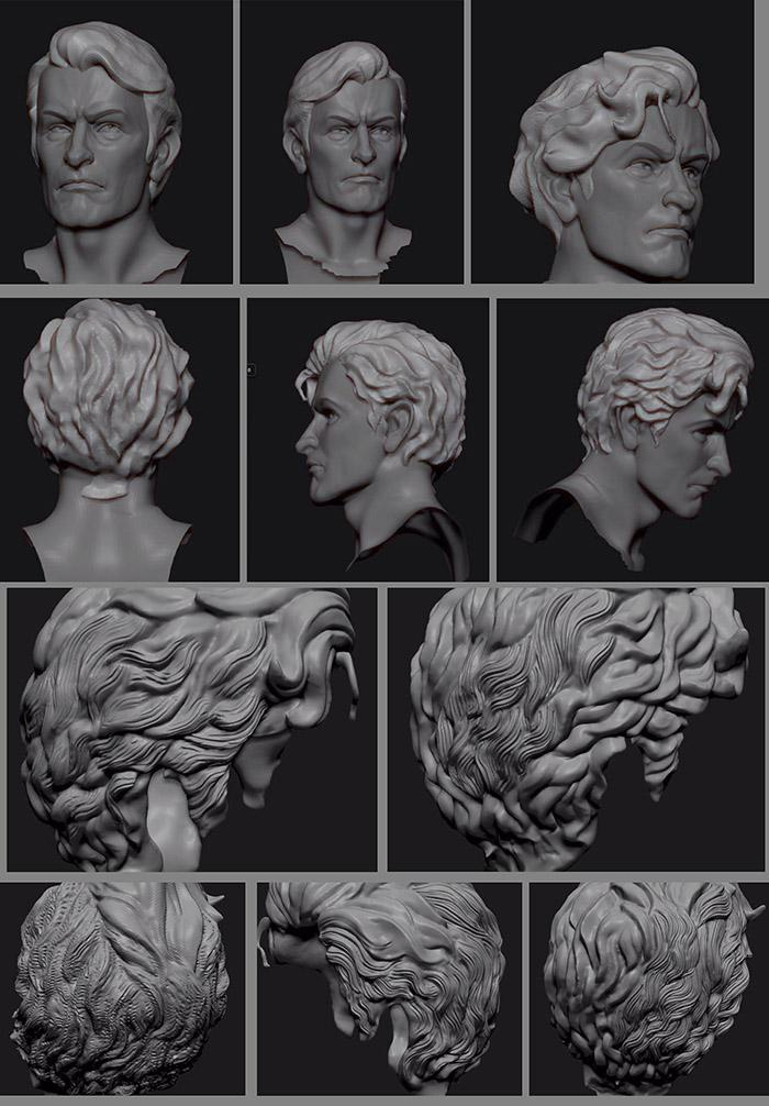 <h5>Adding texture and movement to the hair</h5>