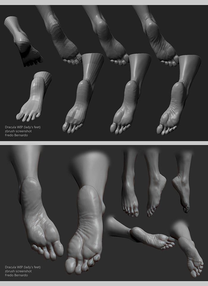 <h5>Making realistic feet</h5>