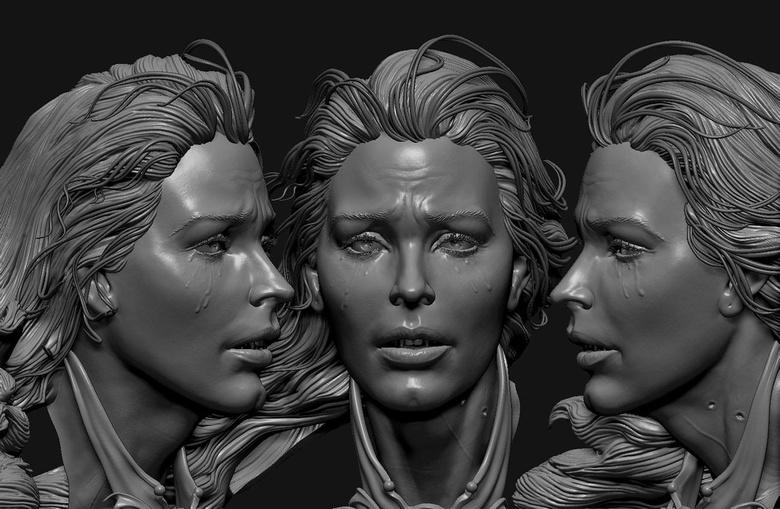 Facial details