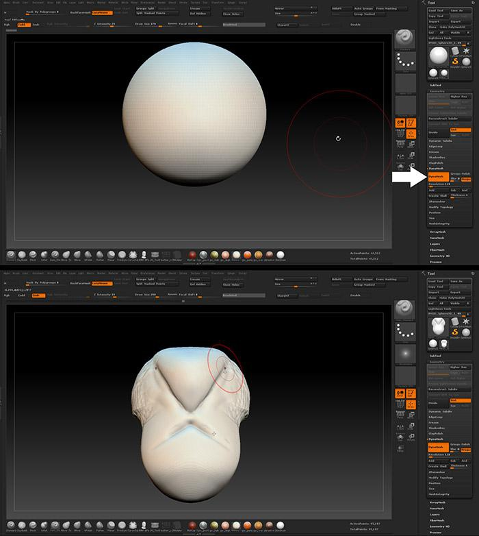 <h5>Body creation with DynaMesh</h5>