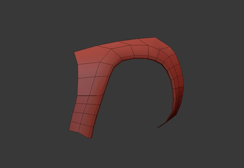 Starting modeling – wheel arch