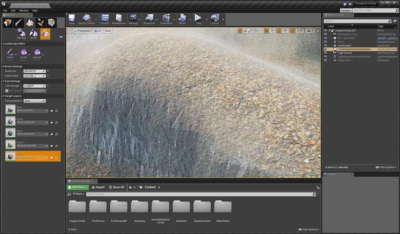 Unreal Engine 2: Introducing materials and landscape painting
