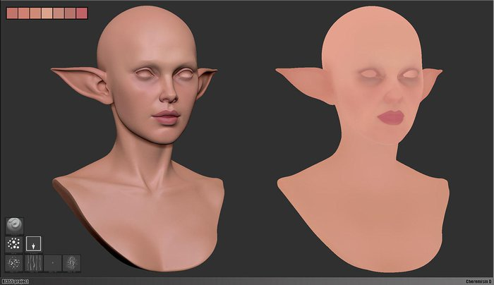 PolyPaint in ZBrush
