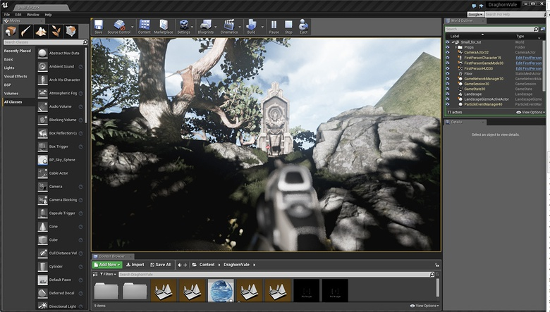 Unreal Engine Part 6: Setting up cameras and post-effects