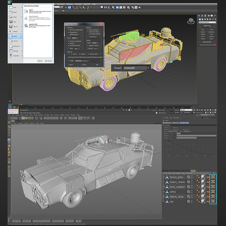 Create a sci-fi car in 3ds Max - Part 2 · 3dtotal · Learn