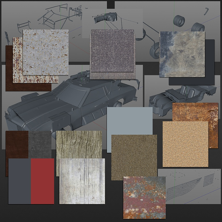 <h5>The base textures I've selected for the vehicle</h5>: