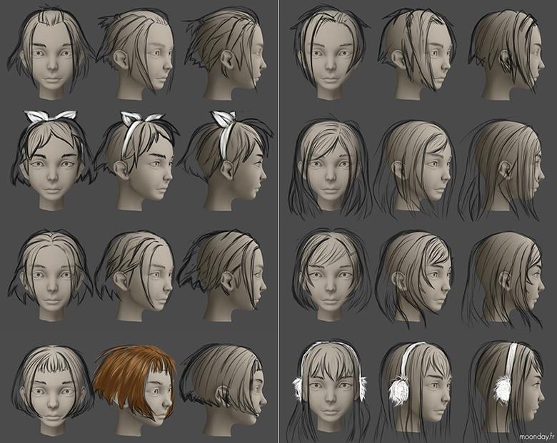 Julia hair style studies