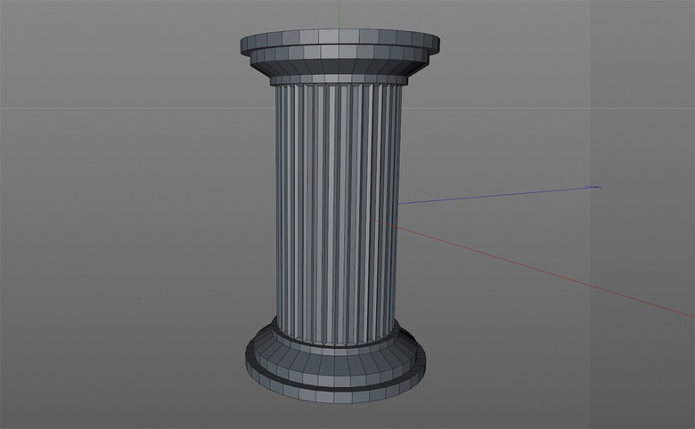 I imported this object built in CINEMA 4D