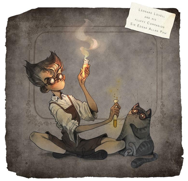 Original Concept Art of Leonard & Edgar by Celia Kaspar