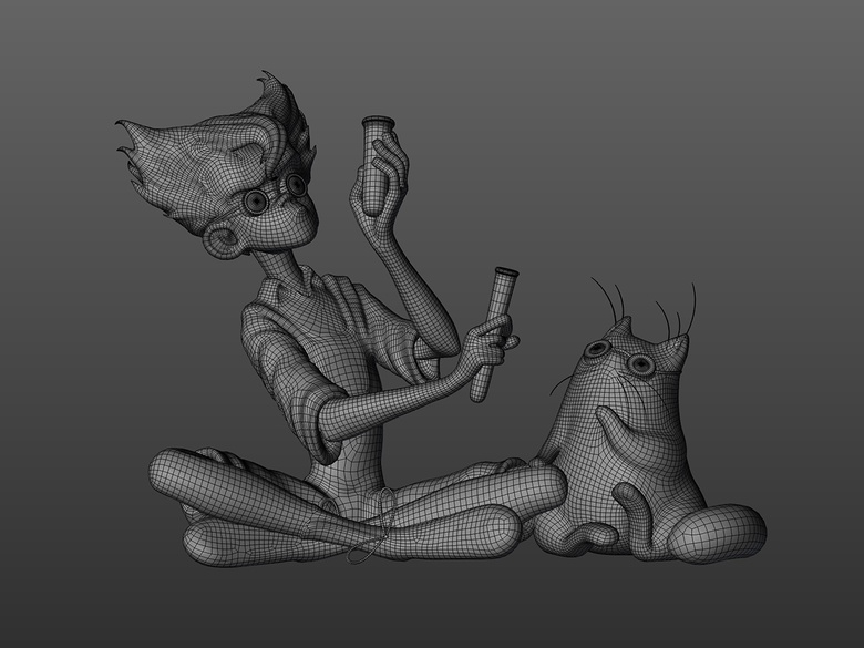 Finished retopology with ZRemesher and adjustment in Blender