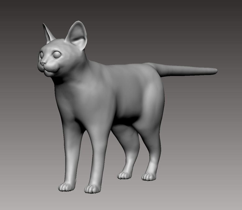 Complete sketch in ZBrush