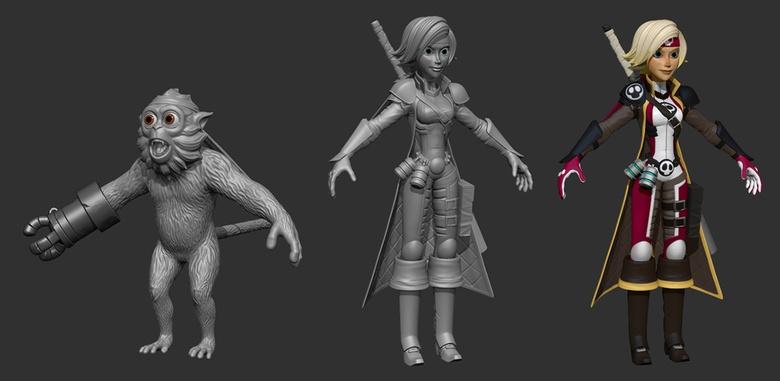 Characters sculpt