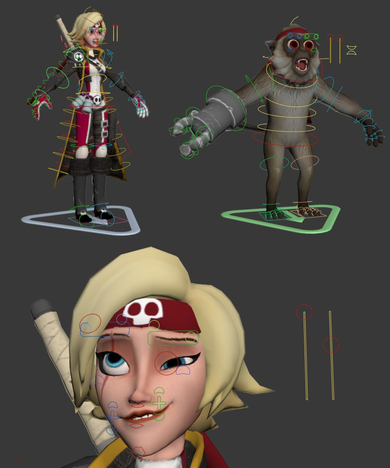 Rigged characters in 3ds Max