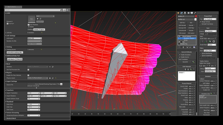 Mesh Details for setting up cloth in UE and how to define simulation-ready vertices in 3ds max