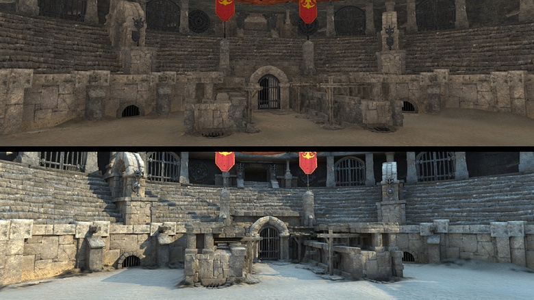 Scene without and with light information
