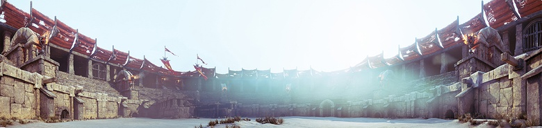 Panorama of the arena