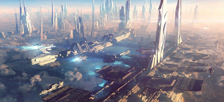 The final picture is probably one of the best sci-fi cityscapes I have created so far