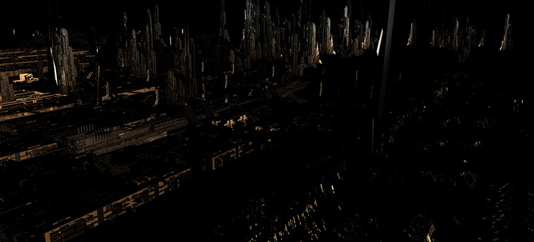 The Specular render pass used to bring some subtle detail into the darker areas of the city